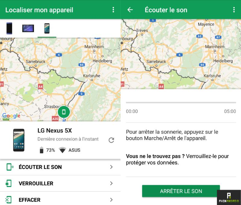 localiser mon appareil android