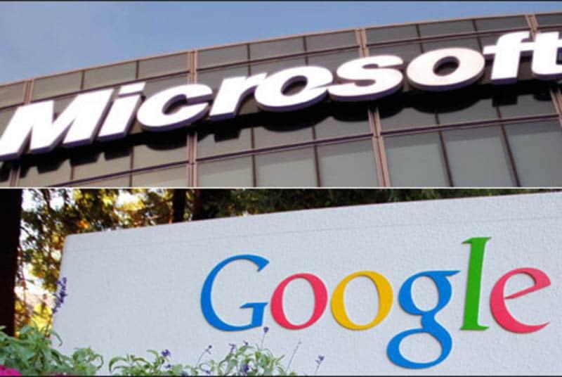 microsoft google hache guerre brevets