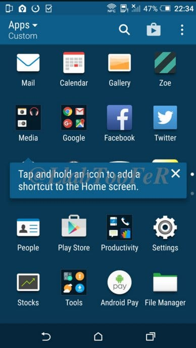 HTC One M8 Android Marshmallow applications