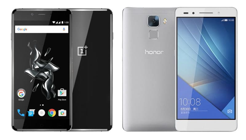 oneplus x vs honor 7 comparatif des meilleurs smartphones moins de 300 euros. Black Bedroom Furniture Sets. Home Design Ideas