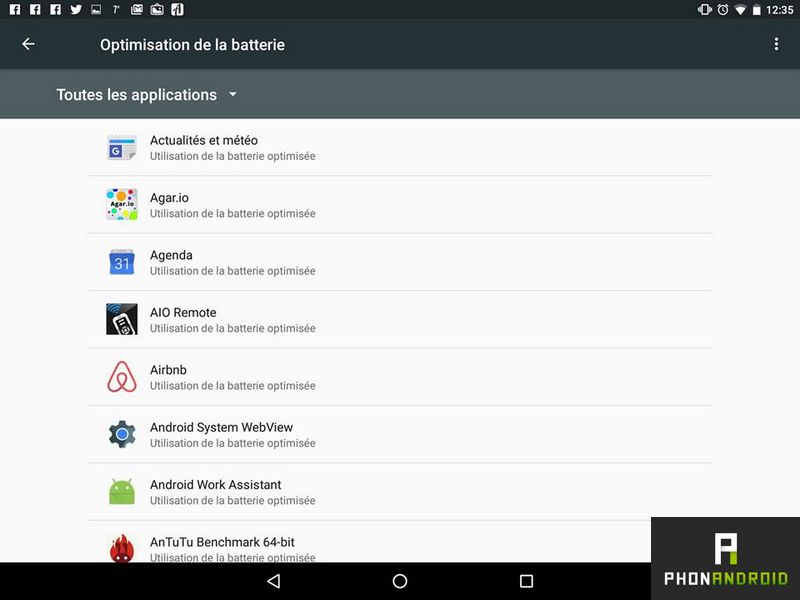 android marshmallow optimisation batterie
