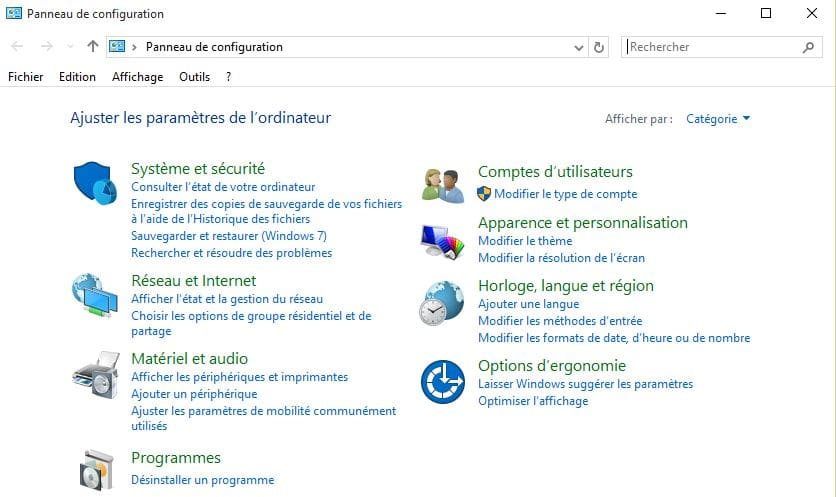 disparition souris windows 10