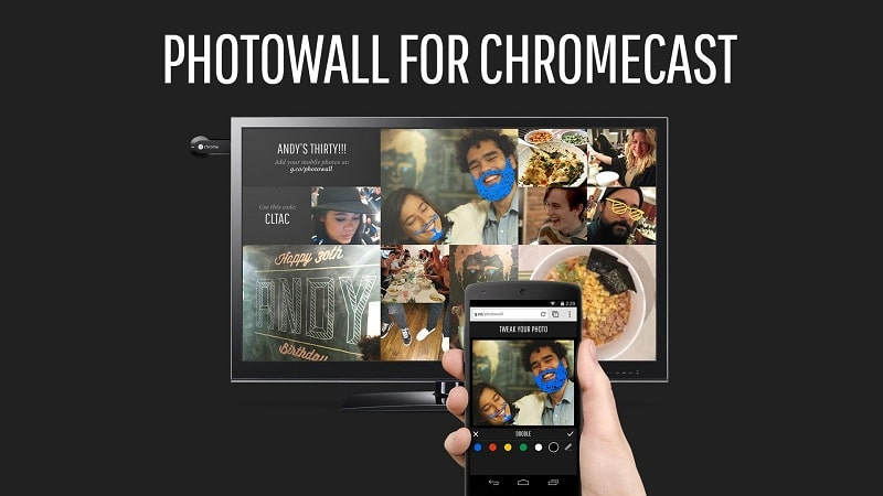 photowall pour chromecast