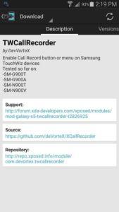 Samsung TWCall Recorder 1
