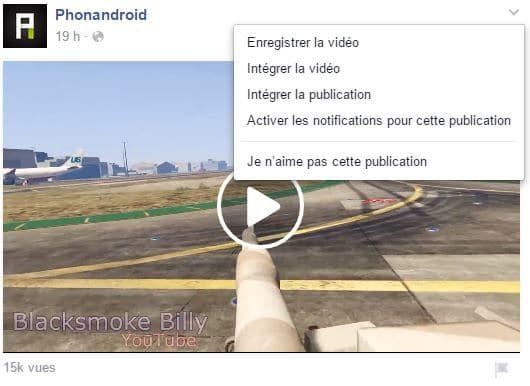 sauvegarder video facebook
