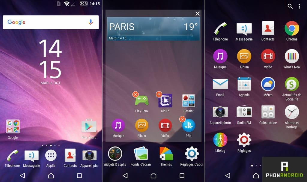 sony xperia z5 interface ux