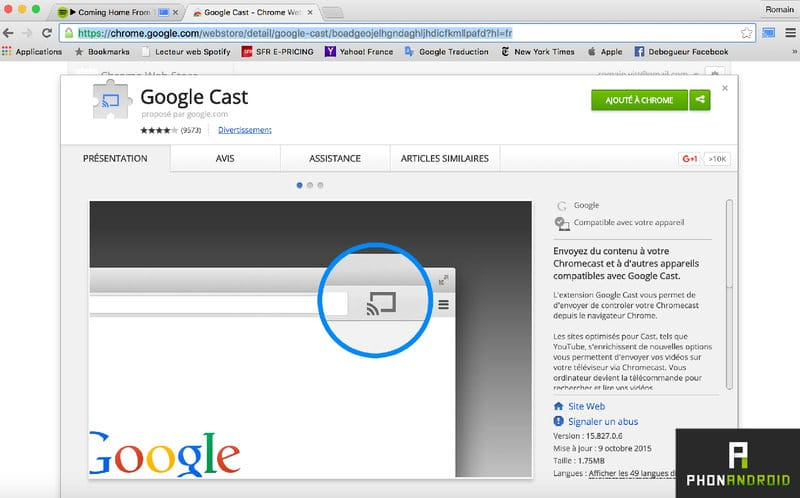 telecharger google cast