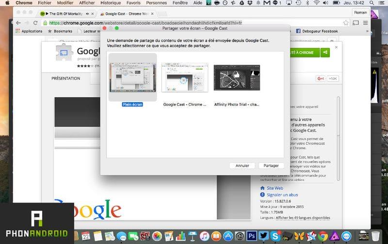 tutoriel chromecast choisir mac