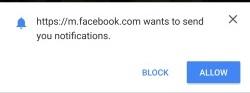 Chrome Facebook notifications