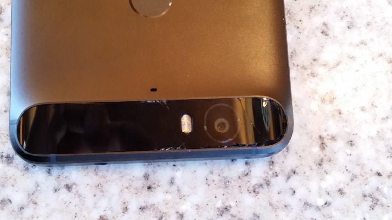 Nexus 6P bande noire cassee