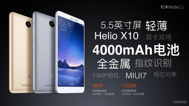 Xiaomi Redmi Note 3 batterie