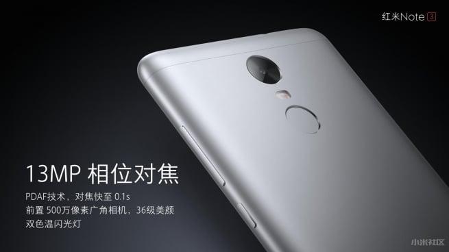 Xiaomi Redmi Note 3 camera