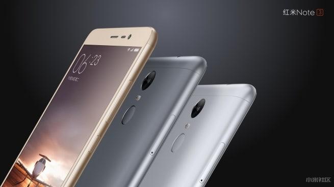 Xiaomi Redmi Note 3 coloris