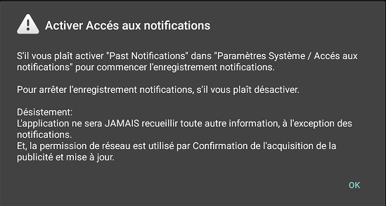 autorisations past notifications