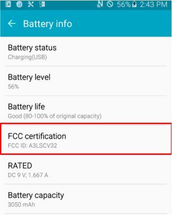 Galaxy A8 batterie