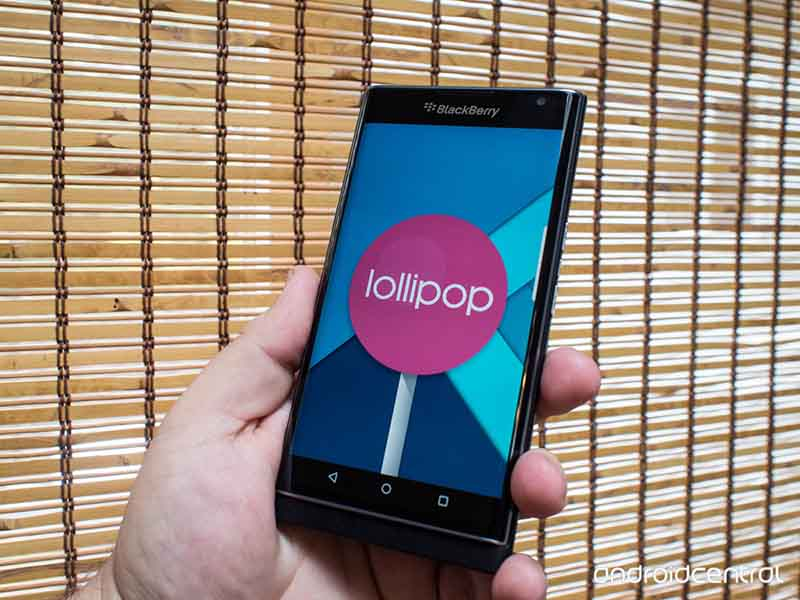blackberry priv lollipop