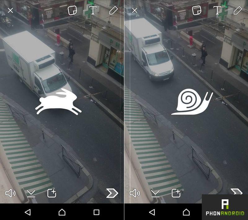 effets video snapchat