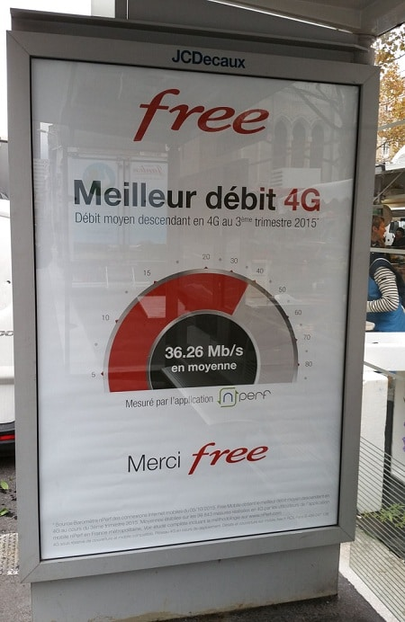 Free mobile campagne 4G