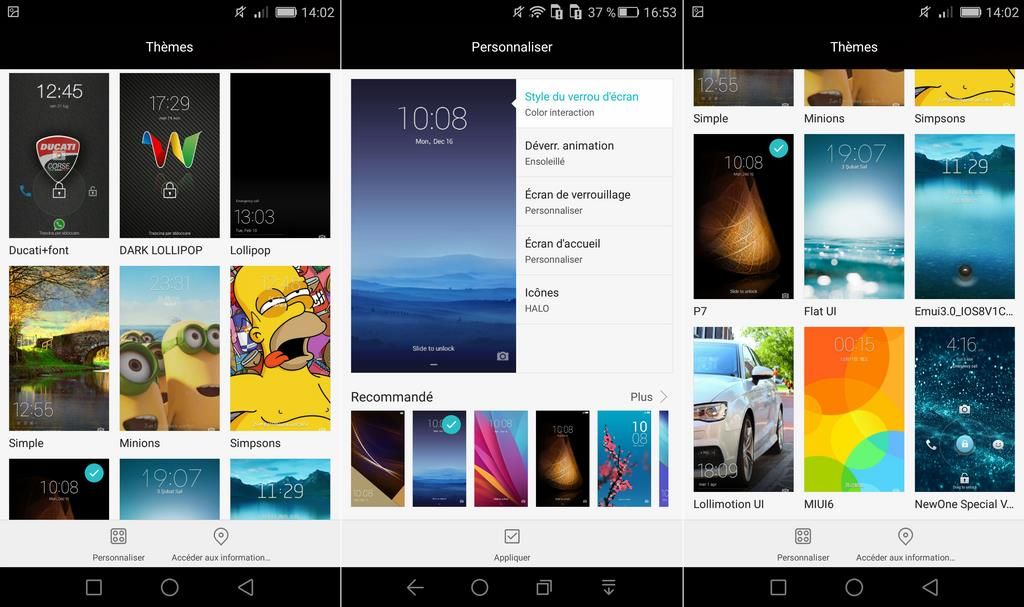 honor 7 themes