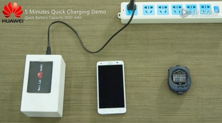 Huawei batterie charge