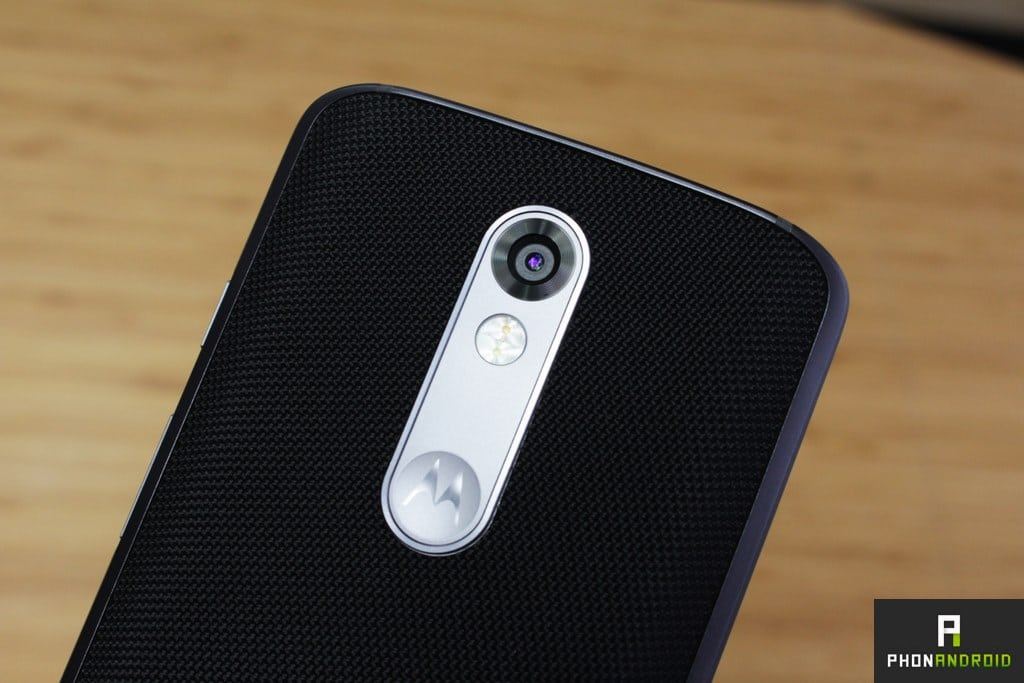 moto x force appareil photo