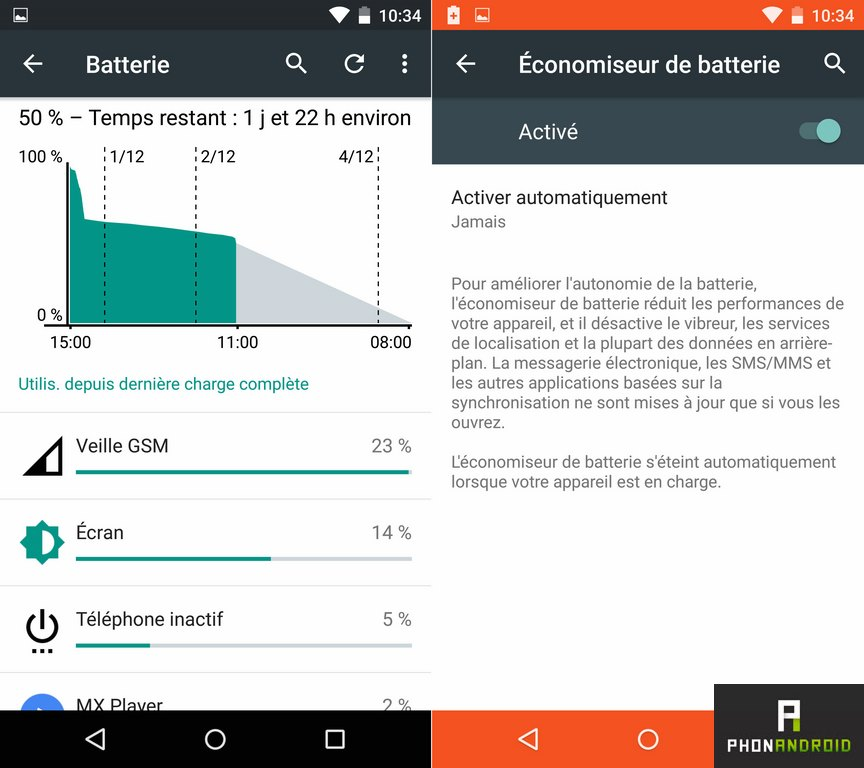 moto x force batterie autonomie