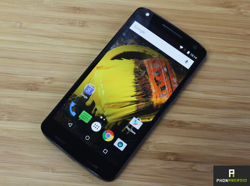 moto x force colorimetrie ecran