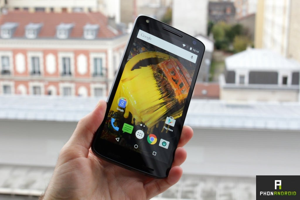 moto x force luminosite ecran