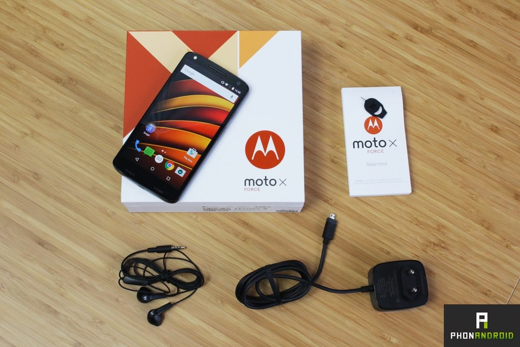 moto x force packaging