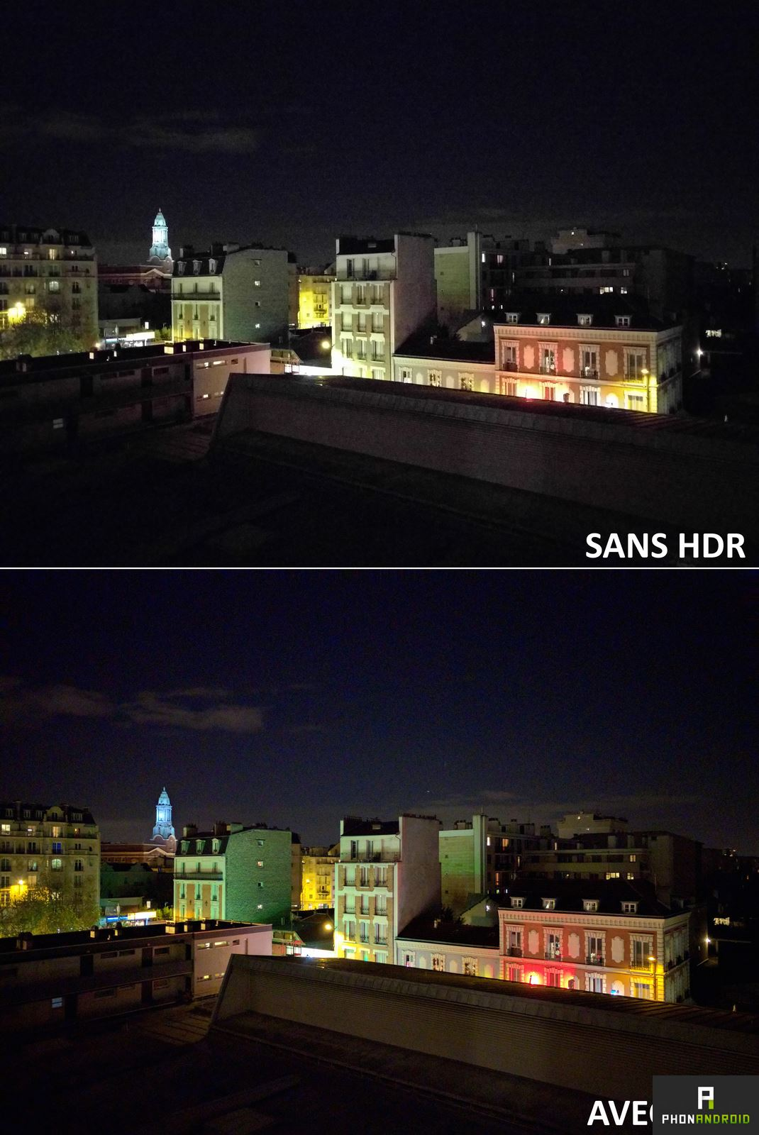 nexus 5x comparatif photo nuit hdr