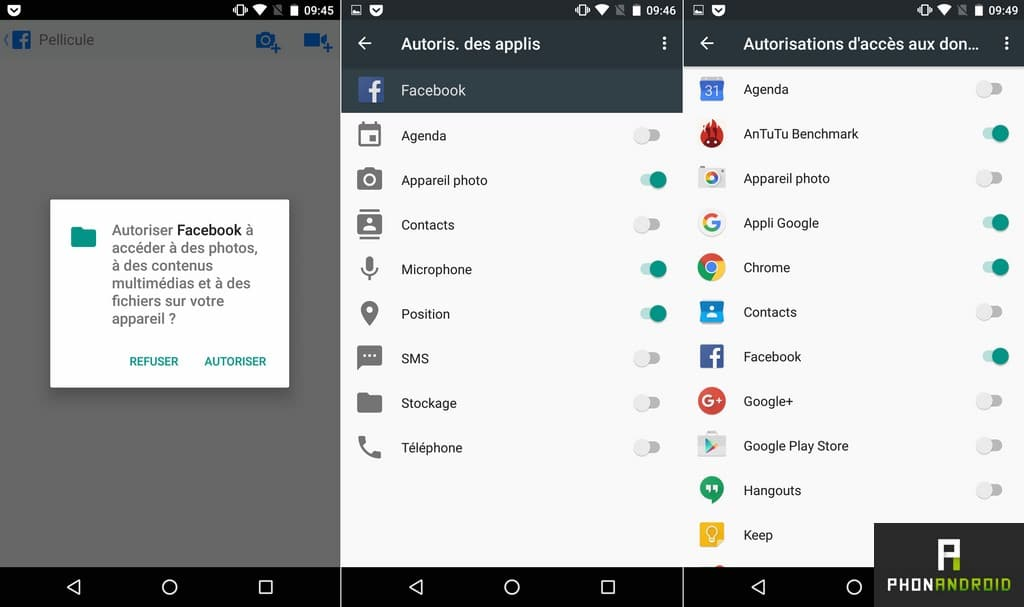 nexus 5x permission application