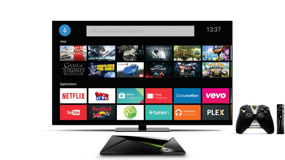 nvidia shield interface android tv