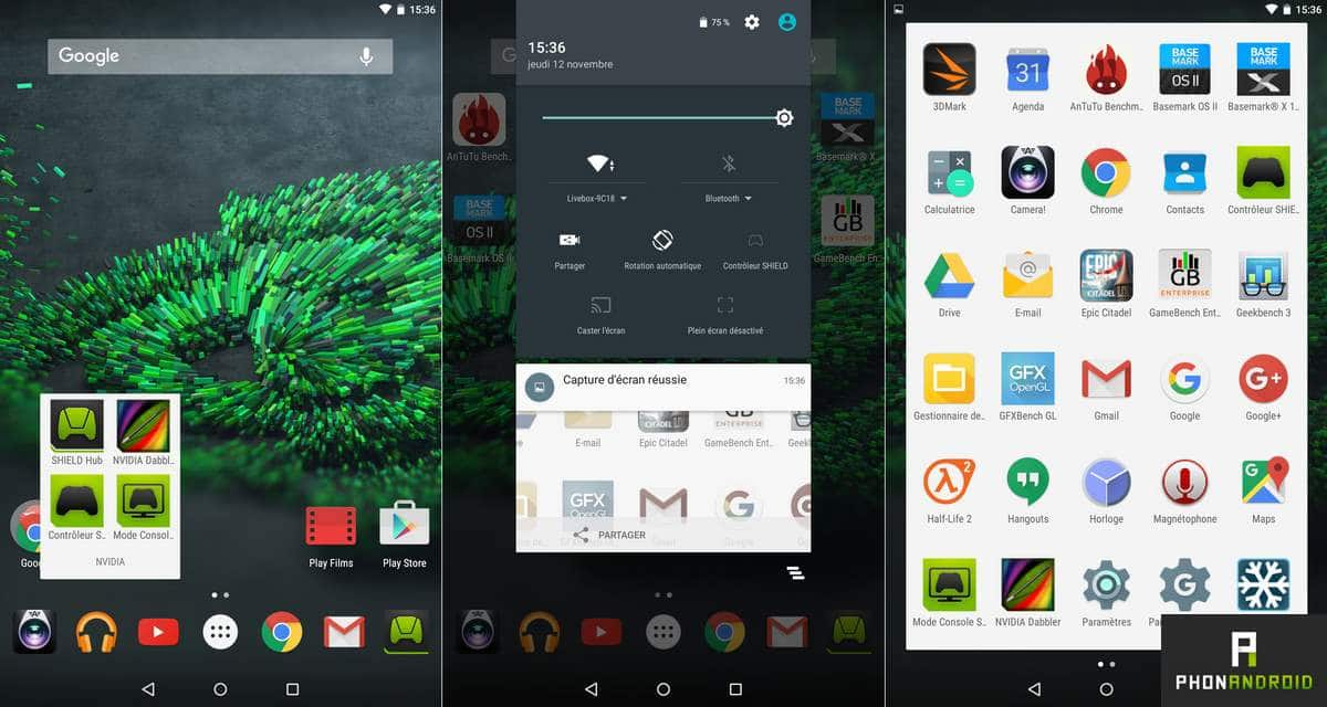 nvidia shield tablet k1 interface