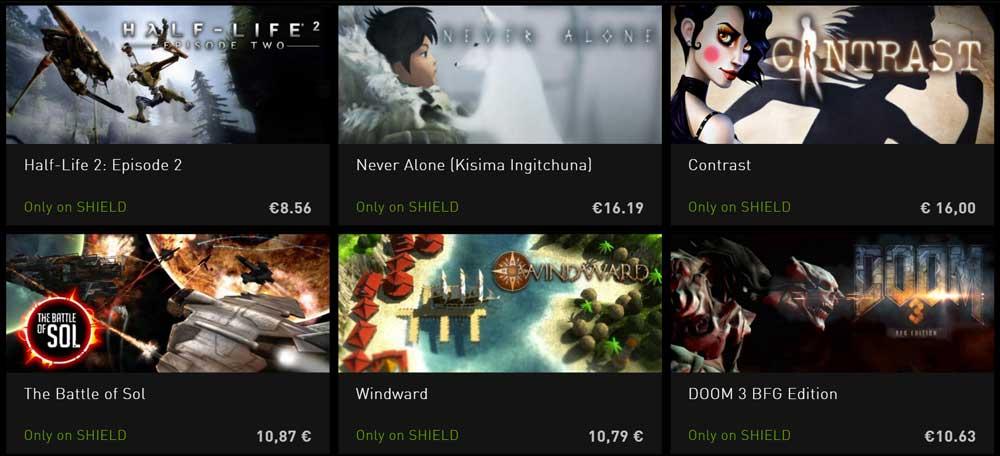 nvidia shield tv jeux exclusifs