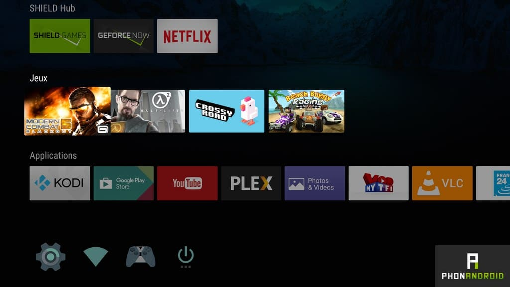 nvidia shiled tv interface