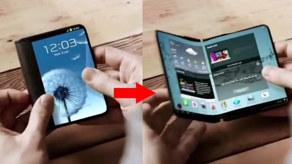 smartphone tablette pliante