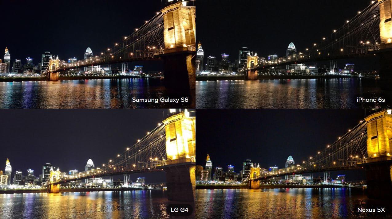 test photo nuit Nexus 5X