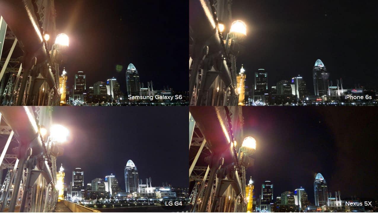 comparatif photos nuit nexus 5X