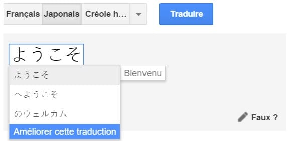 Google Translate modifications