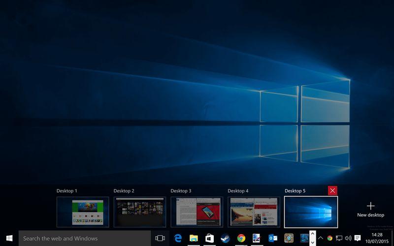 windows 10 bureau virtuel