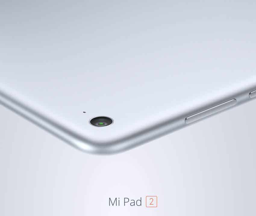 xiaomi mi pad 2 appareil photo