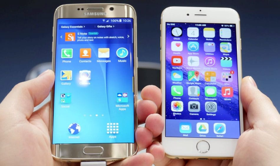 Galaxy S6 edge iPhone 6