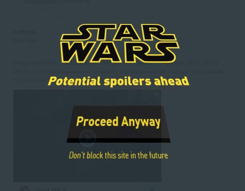 Star Wars Les Derniers Jedi spoiler