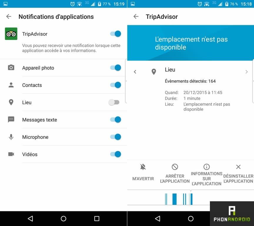 blackberry priv permission application