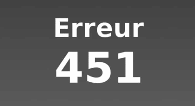 erreur 451 censure