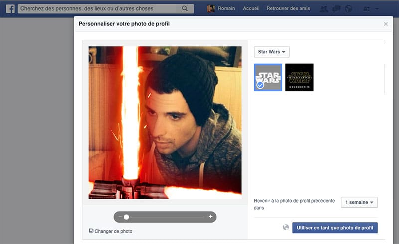 facebook star wars photo profil