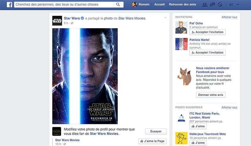 facebook star wars photo