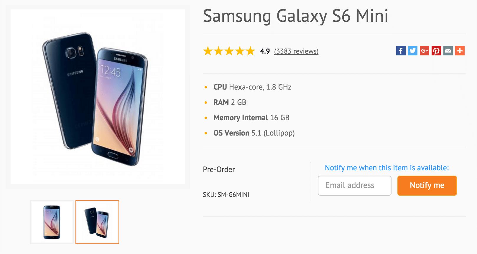 Galaxy S6 Mini