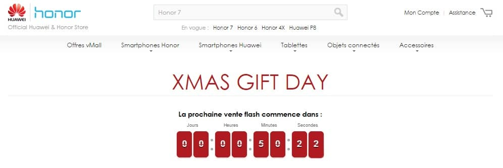 honor vente flash