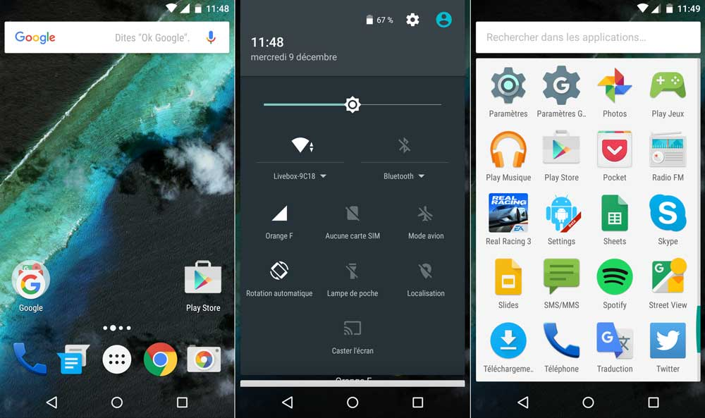 interface-google nexus android stock marshmallow